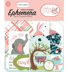 Carta Bella Rock-a-Bye Girl Tags & Frames von Carta Bella