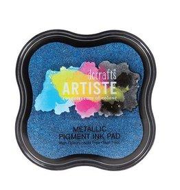Stempelkissen  Pigmentfarbe Metallic Jean Blue