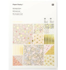 Paper Poetry A4 Paper Pad Hot Foil Gold Bouquet Sauvage