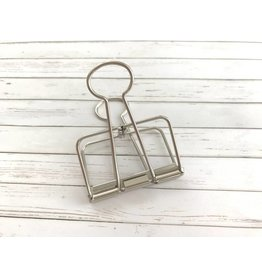 Paper Poetry 1x Jumbo Wire Clip Silber 51mm
