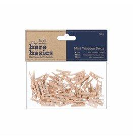 Papermania 50x Mini Holz Wäscheklammern