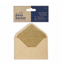 Papermania 3x  Kraft Glitter Envelopes