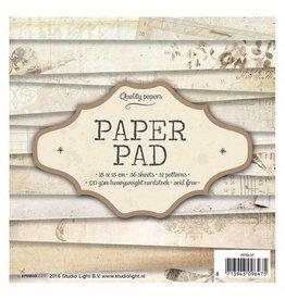 Studiolight Shabby Paper Pad  6x6 Inch 36 Blatt