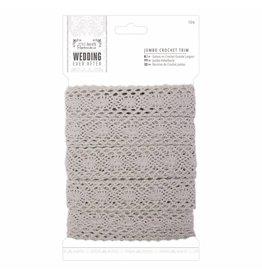 Papermania Jumbo Crochet Trim Grau 10m
