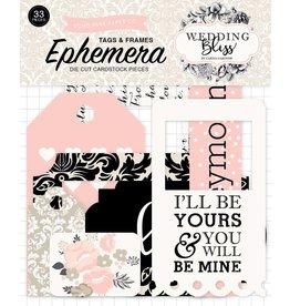 Echo Park Echo Park Wedding Bliss Frames & Tags Ephemera