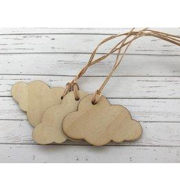 3x Geschenkanhänger aus Holz   Wolke