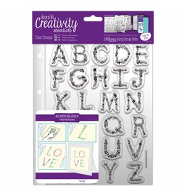 Papermania Clear Stamps Sets  Floral Alphabet  A5