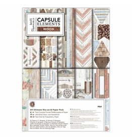 Papermania A4 Ultimate Die-cut & Paper Pack - Elements Wood