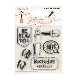 Clear Stamp  Set Make-Up & Kiss von Dovecraft