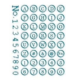 Silikonstempel Set ABC + Zahlen rund