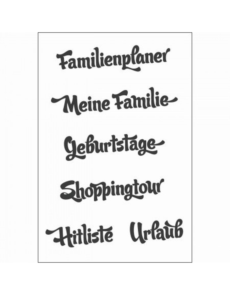 Clear Stamp Set  Familienplaner  6 tlg.