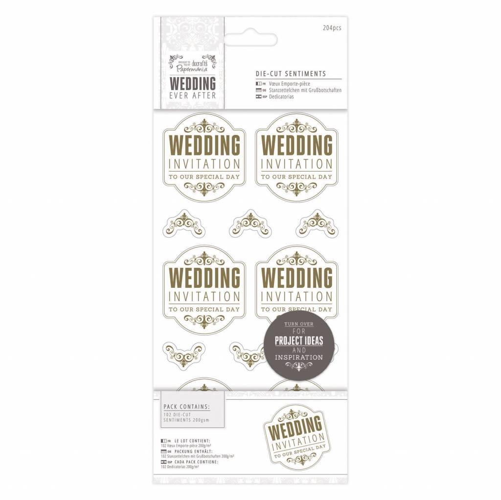 Wedding Invitation Gold Die-Cut Sentiments
