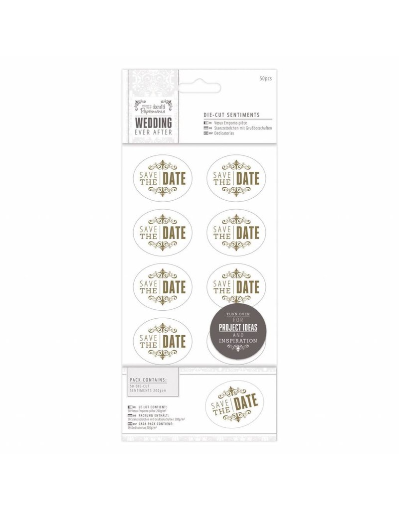 Save the Date Gold Die-Cut Sentiments