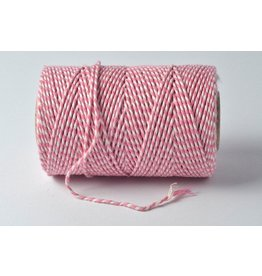 Bakers Twine 100m Rosa Weiß