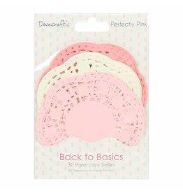 30x Spitzendeckchen aus Papier Perfectly Pink