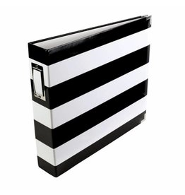 American Crafts Project Life - Album 12x12 black & white stripe