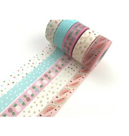 Paper Poetry Washi Tape Set Tropical Spring Ananas