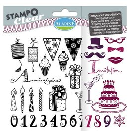 Aladine Clear Stamp Set  Anniversaire adulte