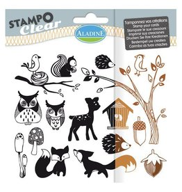 Aladine Clear Stamp Set  Foret