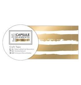 Papermania Washitape Elements Metallics  Gold Stripe