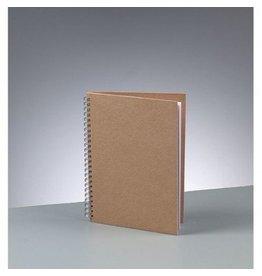 Kraftpapier Blanko A5 Spiral Notizbuch