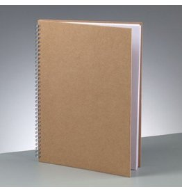 Kraftpapier Blanko A4 Spiral Notizbuch