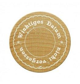 Woodies Woodies Holzstempel   Wichtiges Datum