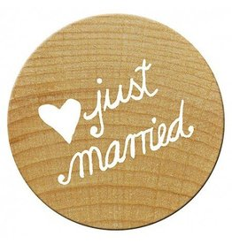 Woodies Mini Woodies Holzstempel Just married