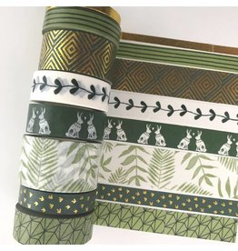 Washi Tape Set Kale Green