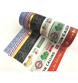 Washi Tape Set Big Cities