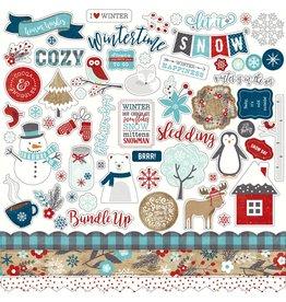 Echo Park A Perfect Winter  12x12 Sticker Sheet
