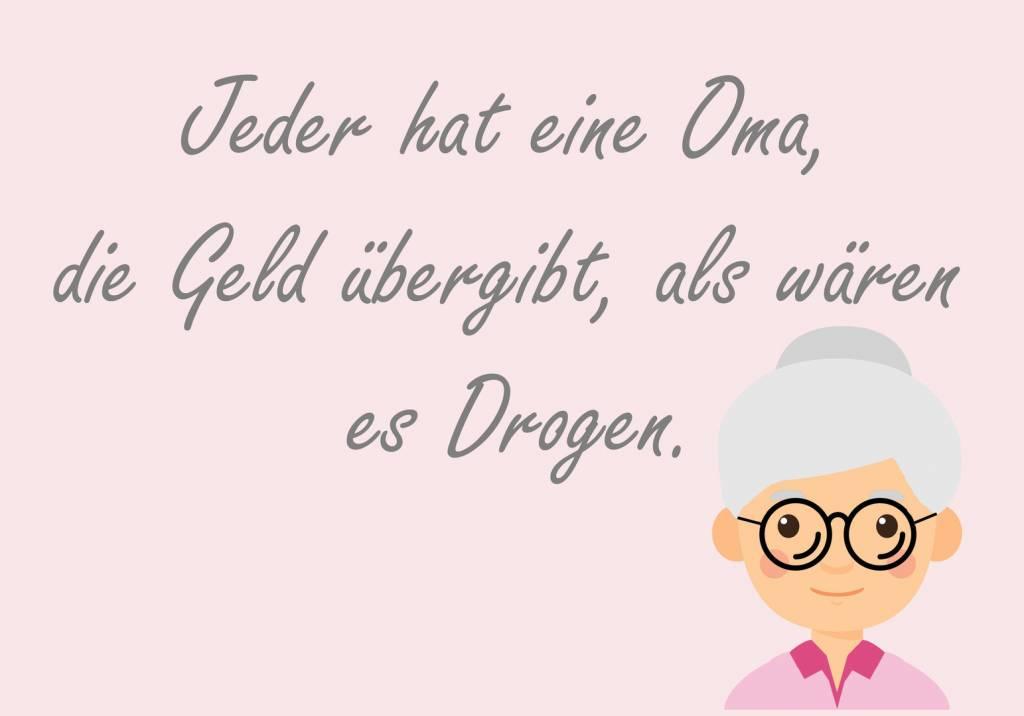 Postkarte  Jeder hat eine Oma ...