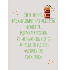 Postkarte  Liebe Teenies