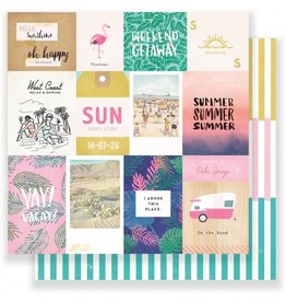 """Oasis palm springs Cardstock Bogen 12x12"""""""