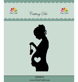 Stanzschablone Schwangere Frau