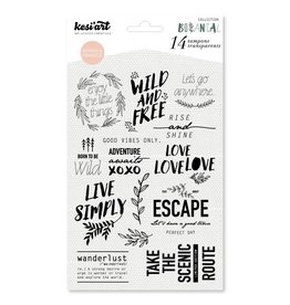 kesi`art Clear Stamps Set wild and free