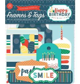 Echo Park Happy Birthday Boy  Ephemera Tags & Frames