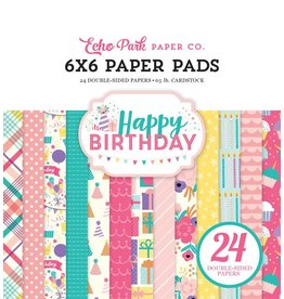 Echo Park Happy Birthday Girl 6x6 Paper Pad von Echo Park