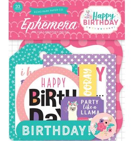 Echo Park Echo Park Happy Birthday Girl  Ephemera