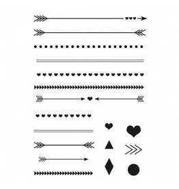Clear Stamp Set  Pfeile + Linien