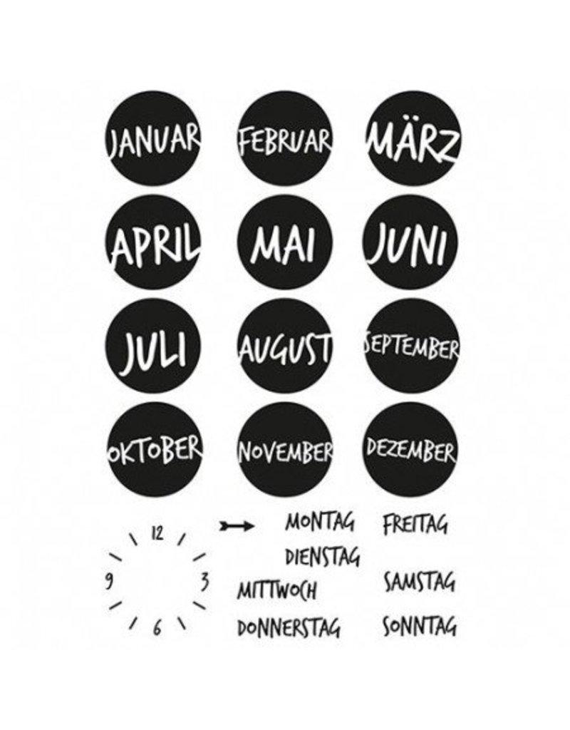 Clear Stamp Set  Kalender