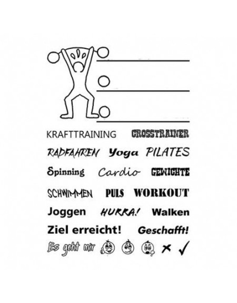 Clear Stamp Set  Fitness