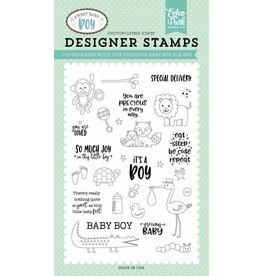 Echo Park Sweet Baby Boy Clear Stamp Set