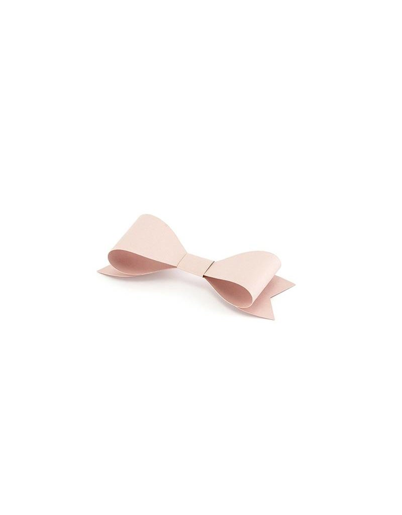 DIY Set kleine Papierschleifen Puderrosa 6 Stk.
