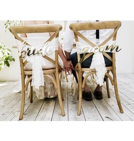 Stuhlschilder Bride & Groom Gold