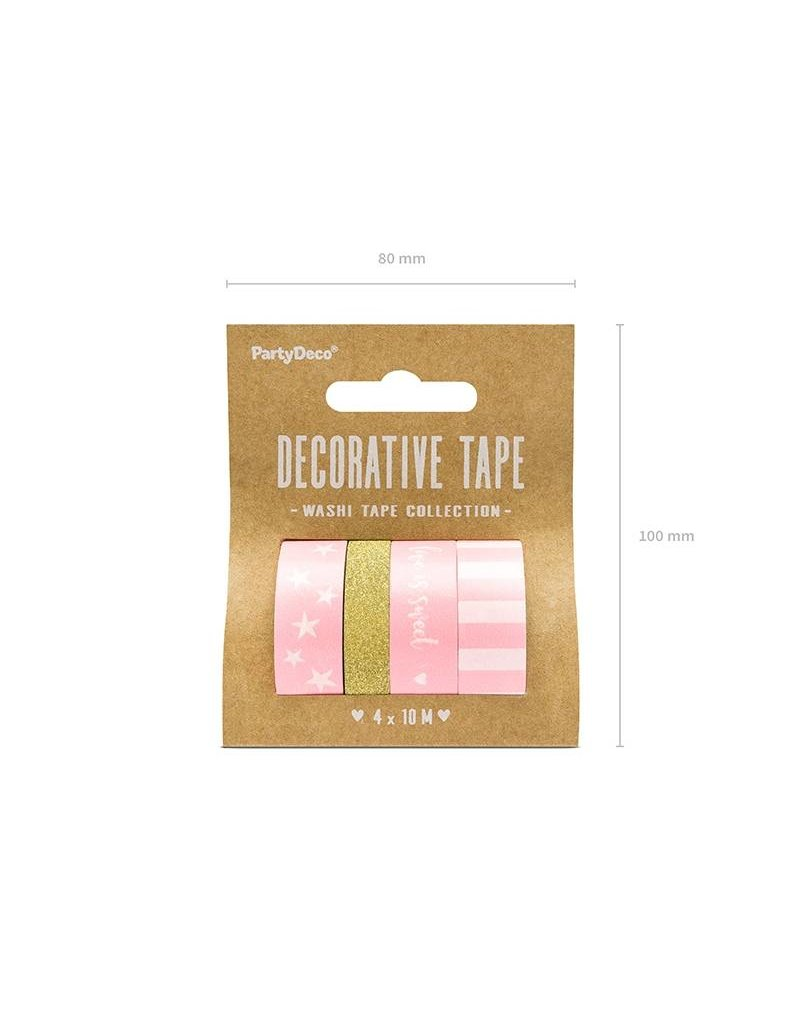 Washi Tape Set  Rosa Gold
