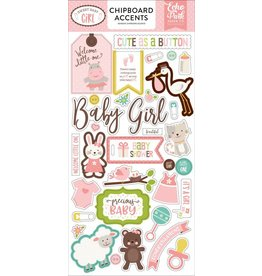 Echo Park Sweet Baby Girl Girl 6x12 Chipboard Accents