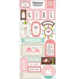 Echo Park Sweet Baby Girl  6x12 Chipboard Phrases