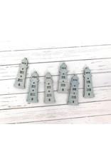6 Holzelemente Leuchtturm