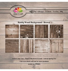 Dixi Craft Paper Pad  6x6 Inch 24 Blatt Rustiq Wood Brown